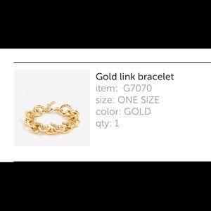 J. Crew Factory Jewelry - J Crew Factory link bracelet in gold.